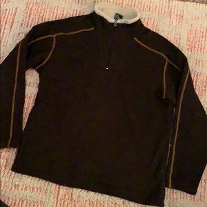 Men's KUHL brown pullover Fleece Jacket  XL